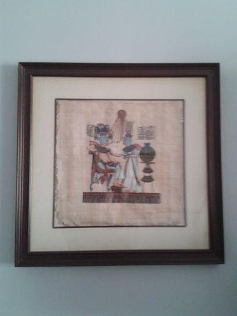 QUADRO com pintura em papiro egipcio, MAIS presente