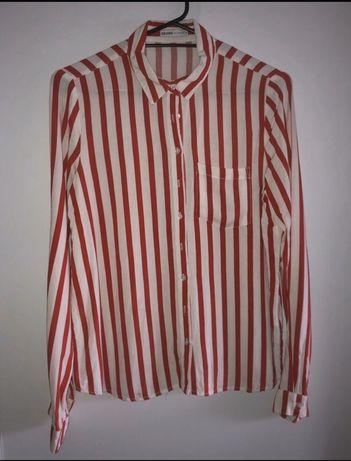 Koszula w bialo czerwone paski