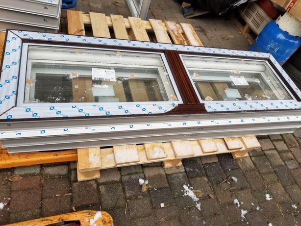 Okno mahoń 160x50 inwentarskie przemysłowe, techniczne,uchylne