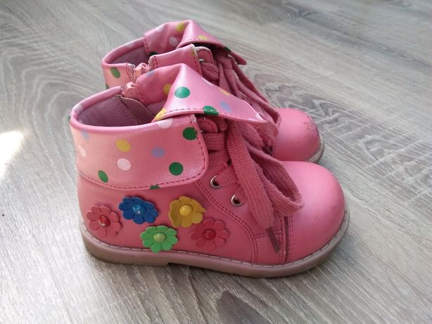 Детские ботинки для девочки Шалунишка! Дитяче шкіряне взуття!