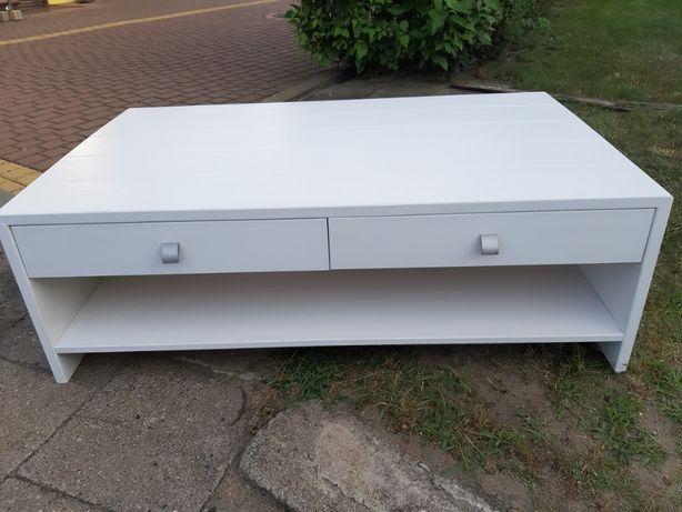 Biały solidny stolik kawowy salon - pokój - taras - 120 x 70