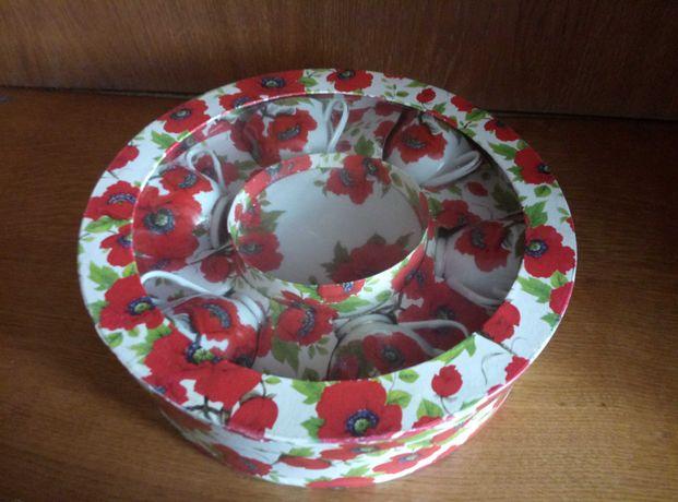 Чайный сервиз маки керамика подарочны