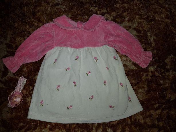 Красивое платье для маленькой принцессы р.62-80