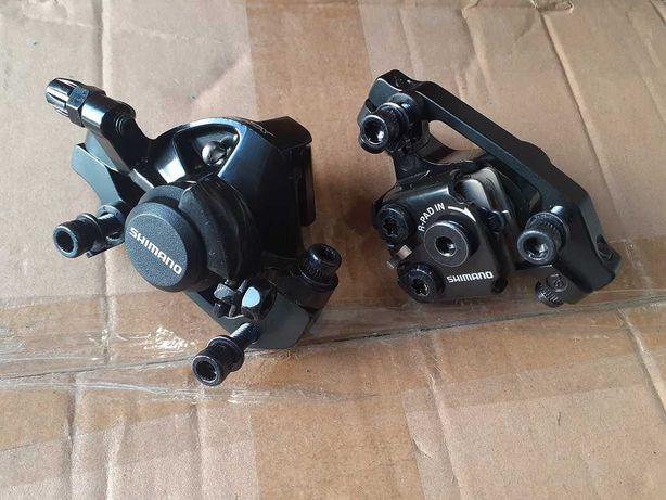Велосипедные дисковые тормоза/суппорта Shimano BR-TX805:(перед и зад).