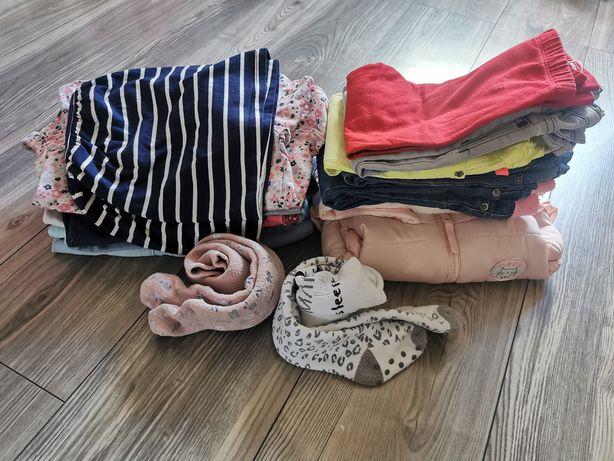 Paka paczka dla dziewczynki 92 jesień zima bezrękawnik katana bluzka