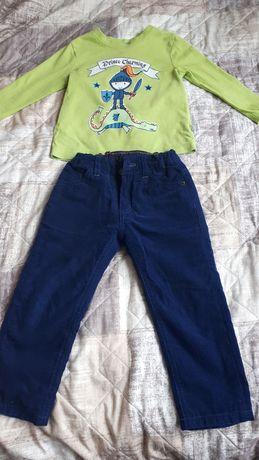 Продам детские штаны, лонгслив, флисовую кофту 86-92 размер