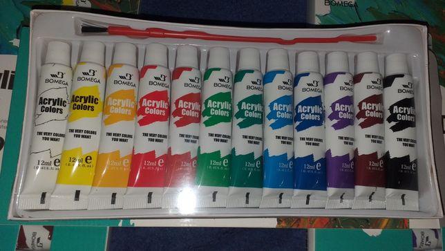Краски Акрил 12цветов по 12 мл