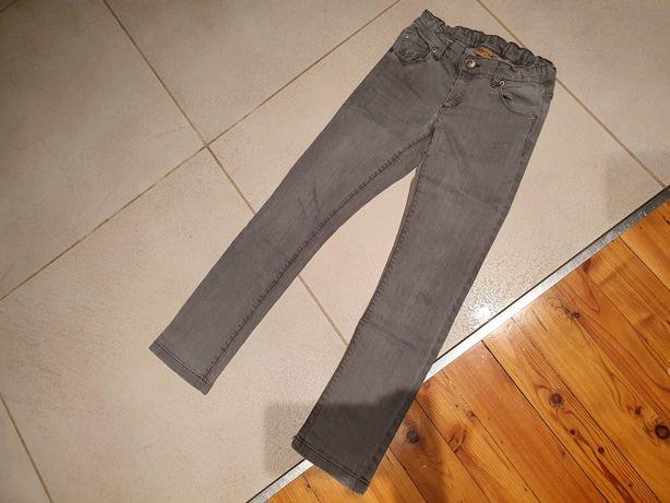 Jeansy 140 COOLCLUB dżinsy spodnie szare
