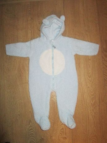 Человечек-Комбинезон Мишка голубой Baby