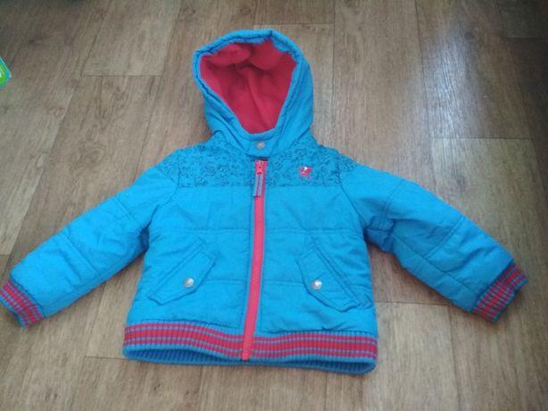Теплая куртка с монстриками на 2,3,4 года, на рост 92-104 см