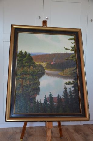 Obraz ze Szwecji, sygnowany, malowany.