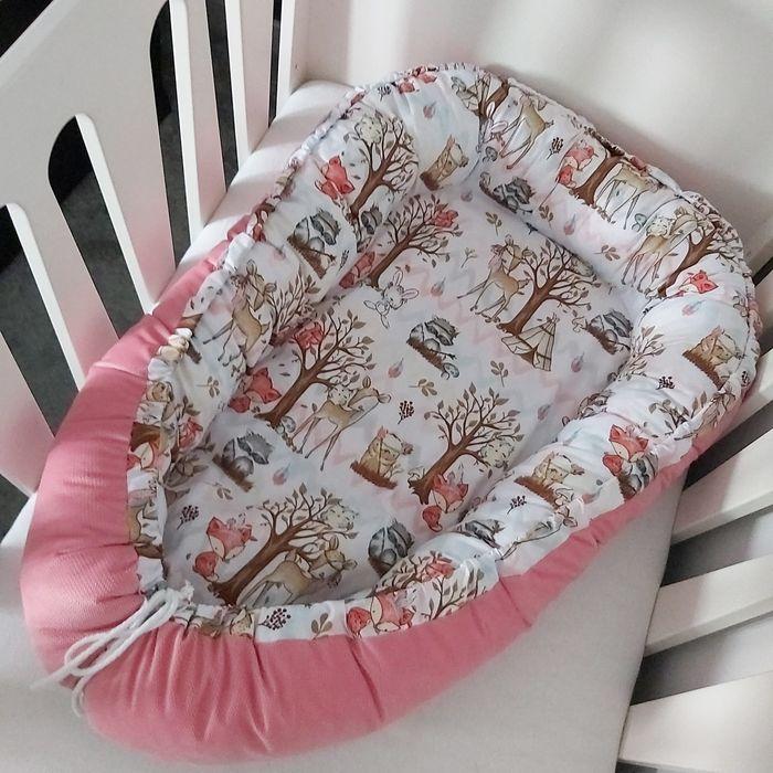 Nowy kokon gniazdo niemowlęce velvet bawełna kołderka Żory - image 1