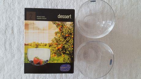 Szklany komplet: 2 salaterki ze szkła krystalicznego