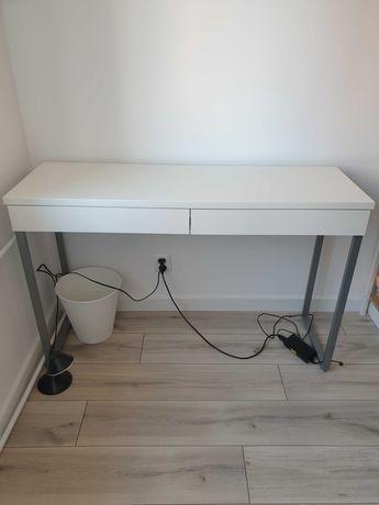 Biurko, białe lakierowane, wysoki połysk