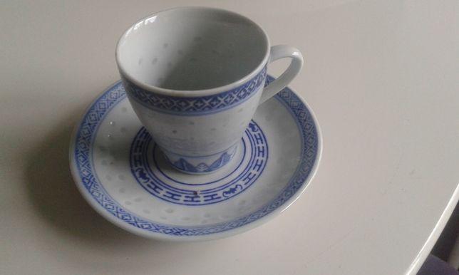 """serwis do kawy porcelana """"ryżowa"""" chinska"""