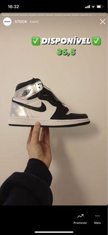 Air jordan 1 high og silver toe (36,5)
