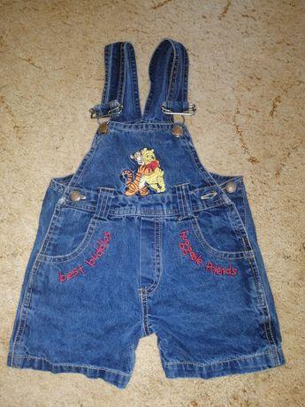 Продам летние джинсовые шорты - комбинезон для девочки на 1,5-2 года