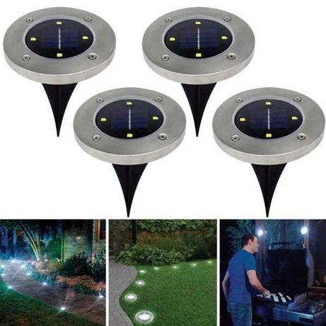 Садовый светильник 4 шт на солнечной батарее. Фонарик фонарь