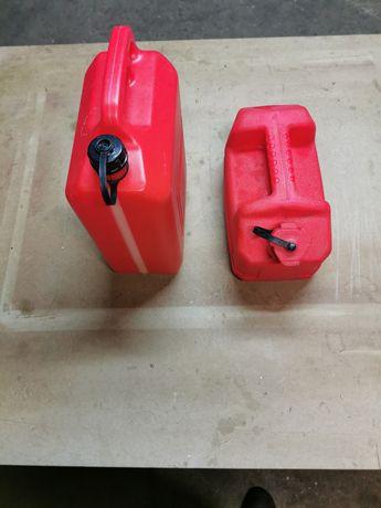 2 potes para gasolina de 5 litros de 10 litros