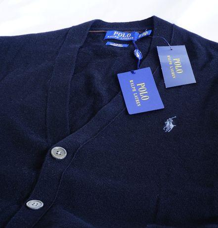 Polo Ralph Lauren S sweter kardigan merino hilfiger tommy V-neck klein