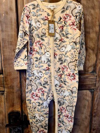 Piżama 86 piżamka pajac kroliczki newbie nowe