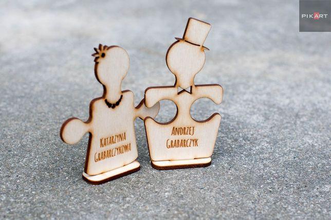 Winietki winietka puzzle 10cm na stół !!! ślub wesele