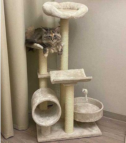 В НАЛИЧИИ! Игровой комплекс дерево для кота. Домик когтеточка драпак