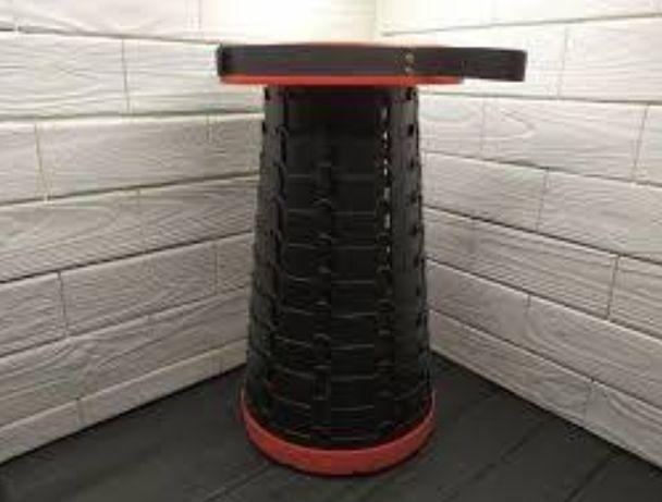 Складной стул для рыбалки Телескопический стул черный
