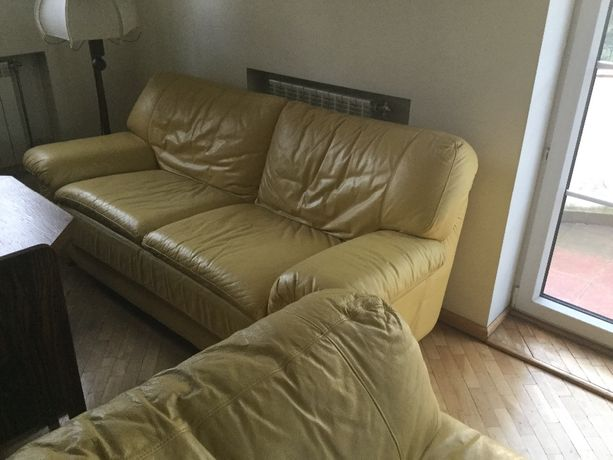 Sprzedam skórzana sofe i dwa fotele