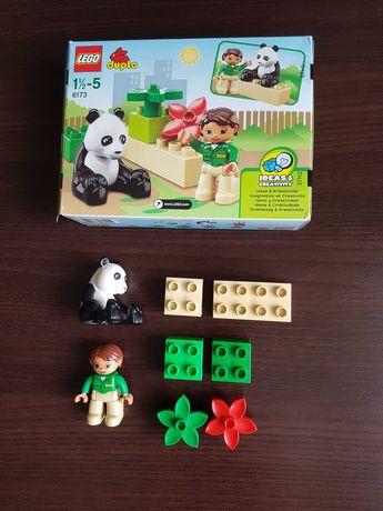 LEGO DUPLO 6173, PANDA Z OPIEKUNKĄ, używane w pudełku