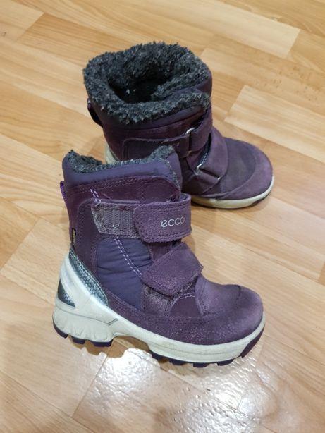 Зимние ботинки сапоги ecco