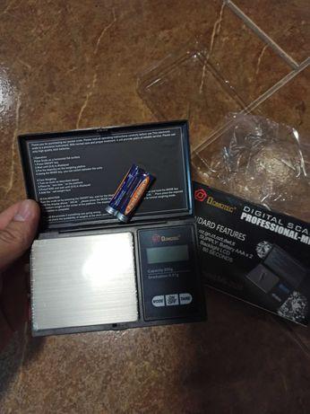 Весы ювелирные карманные от 0.01 - 200 гр с крышкой бокс box