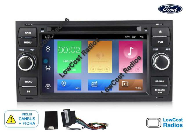 Auto Rádio GPS ANDROID 10 FORD Focus/Mondeo/Transit/C-MAX/FIESTA