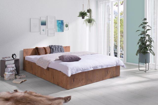 Łóżko Sypialniane z Materacem w cenie kompletne Nowe Białe, Szare, Dąb