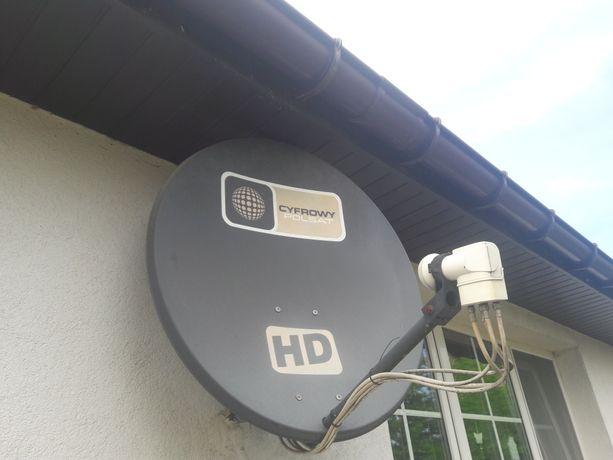 Antena satelitarna z konwerterem