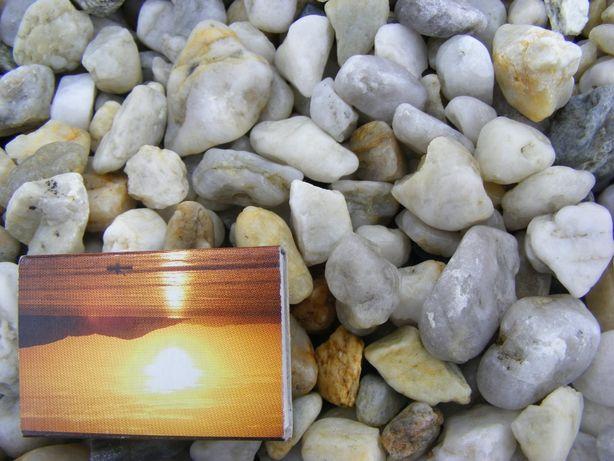 Kamień ozdobny otoczak perłowy 8-16mm,16-32mm