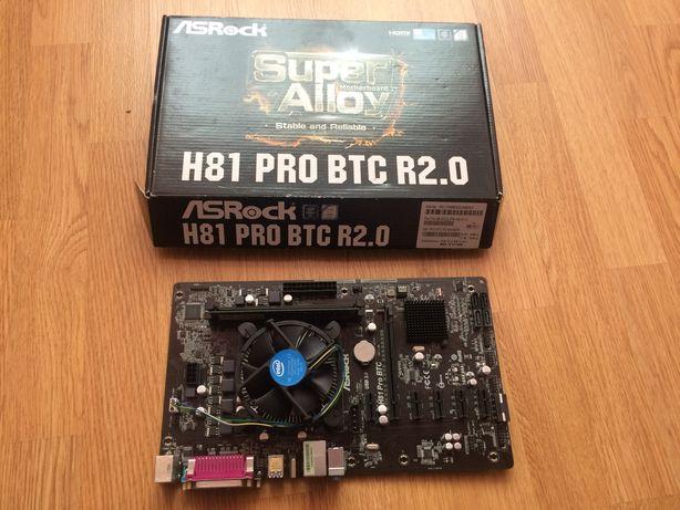 Материнська плата ASRock H81 Pro BTC r2.0+процессор+оперативка