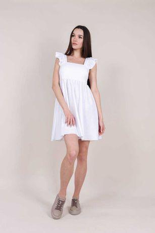 Платье из льна белое желтое лиловое сиреневое