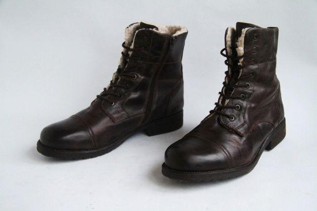 ботинки кожаные теплые с натуральным мехом Blue Cox / Dockers, Caterpi