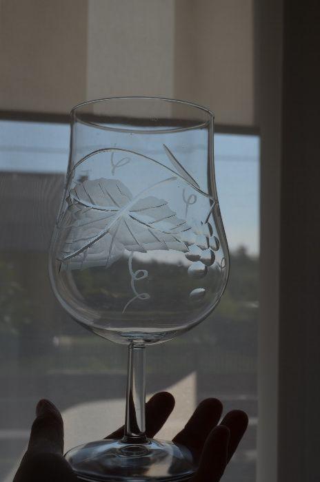 kielich szkło kryształ winogron na nóżce duży Nowa Dęba - image 1