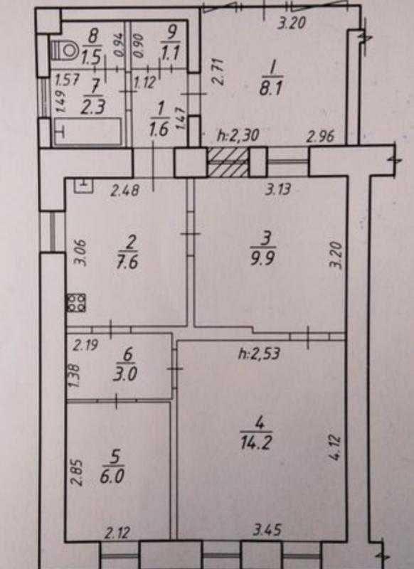 3 кімнатна квартира на Петропавлівській