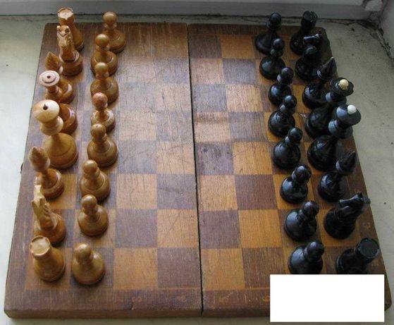 Настольная игра Шахматы деревянные мини Дерево СССР в коробке