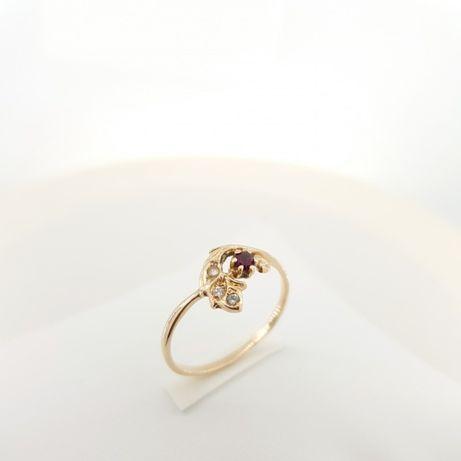 Złoty pierścionek p.583 roz.17