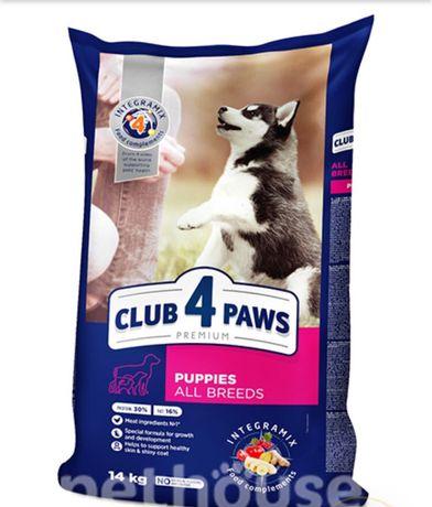Клуб 4 лапы для щенков 14 кг +2 кг в подарок