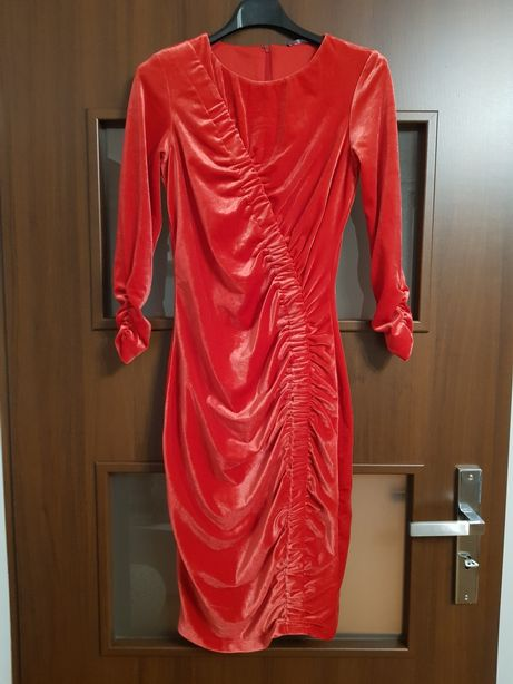 Sukienka welurowa xs