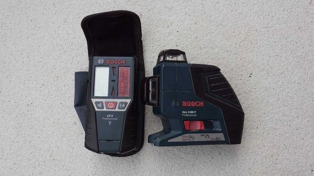 Laser Bosch GLL3-80P i odbiornik LR2