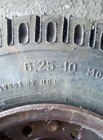 Колёса шины 6.25 - 10 В-97,ось,ступицы