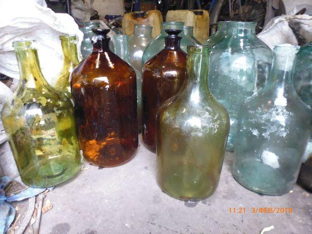 Стеклянная банка бутыль1л.,3л.,(широкое горло) 4л.-10л.(узкое горло)