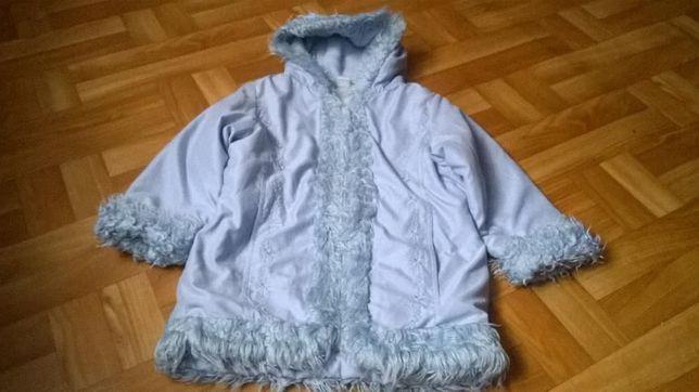 kurtka-płaszczyk zimowa dla dziewczynki
