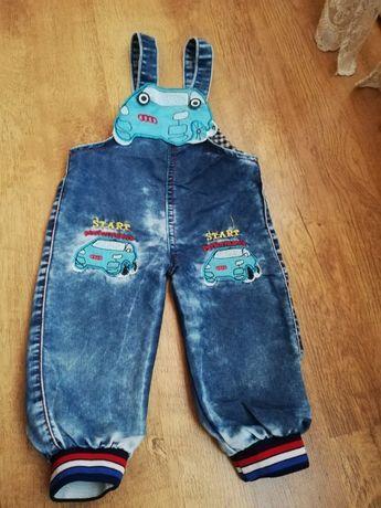 Джинсовые штанишки на рост 72-86 см